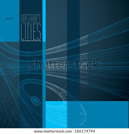 Abstract lines, clear eps 8 vector. - stock vector