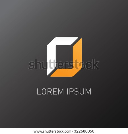 abstract logo - stock vector