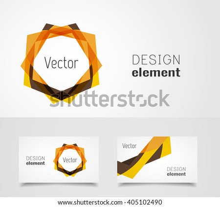 Abstract logo design and business card template - stock vector
