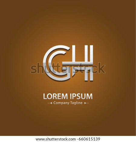Abstract Logo Design Combinations Letter Of G And H
