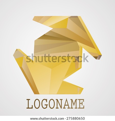 Abstract Logo Design or Business Icon. Triangular Design Element. Vector Design.  - stock vector