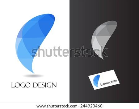 Abstract logo design.Vector logo template. - stock vector