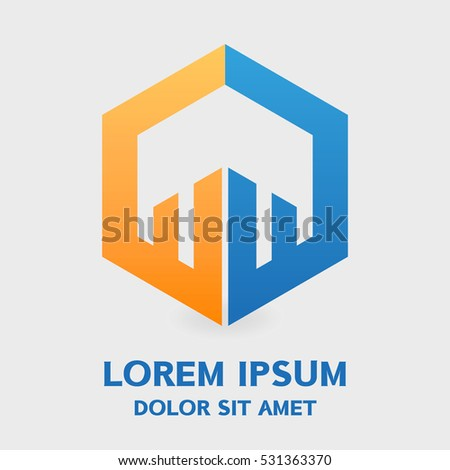 Abstract logo element. eps 10