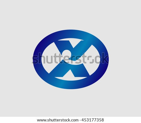Abstract logo icon design template elements with letter X  - stock vector