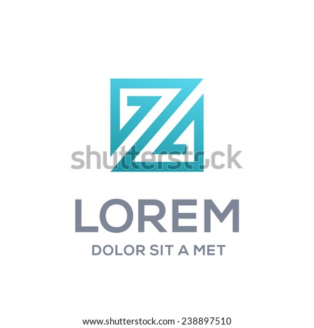 Abstract logo icon design template elements with letter Z  - stock vector