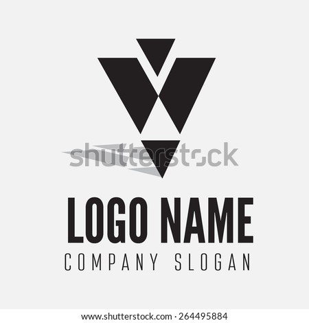 Abstract logo, label, badge, emblem or logotype element for business, corporation or web - stock vector