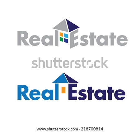 abstract logo on real estate theme. Real Estate Sign - stock vector