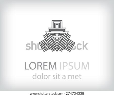 Abstract logo template - stock vector