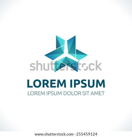 Abstract Logo template. Corporate icon, logotype. Brand visualization. Vector element for banner, business card, poster, corporate identity, presentation, app and web design. - stock vector
