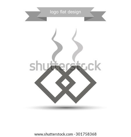 abstract logo vector creative production smoke - stock vector