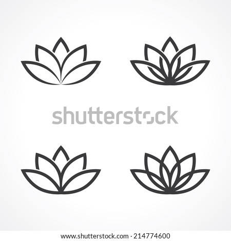 abstract lotus symbols. vector eps8