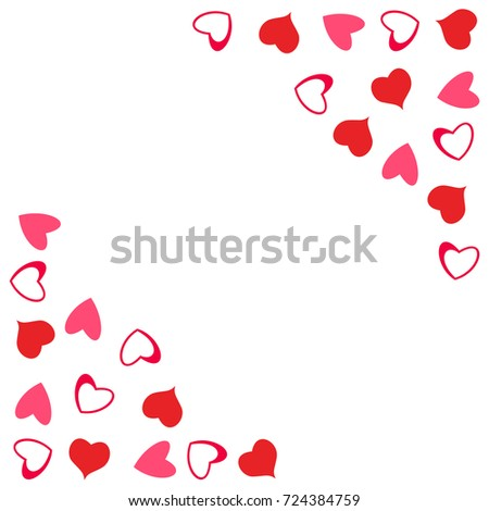 Abstract Love Design Hearts Greeting Cards Stock Vector Royalty