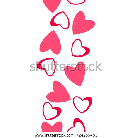 Abstract Love Pattern Hearts Greeting Cards Stock Vector 724255483