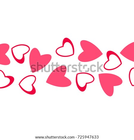 Abstract Love Pattern Hearts Greeting Cards Stock Vector 725947633