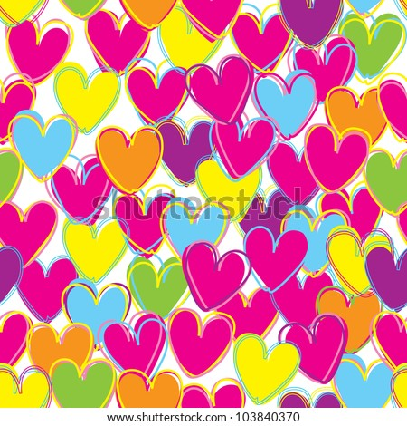 Abstract Love seamless background / Vector seamless pattern with love - stock vector