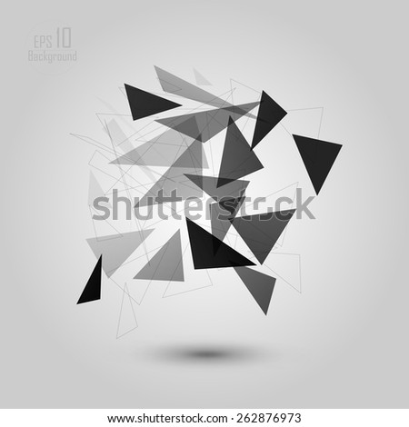 Abstract low poly geometric technology vector design element. Connection structure. Vector data science background. Polygonal vector background. Molecule And Communication Background. eps 10