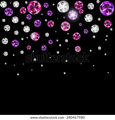 Abstract Luxury Black Diamond Background Vector Illustration EPS10 - stock vector