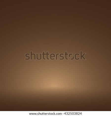 Abstract luxury dark brown and brown gradient with border brown vignette, Studio backdrop - well use as brown backdrop background, brown board, brown studio background. Vector Illustration.