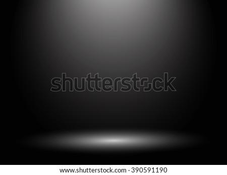 Abstract luxury dark grey and black gradient with border black vignette background Studio backdrop - well use as black backdrop background, black board, black studio background. Vector Illustration. - stock vector