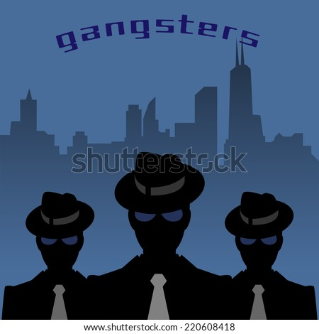 Abstract mafia or gangster background, vector illustration - stock vector