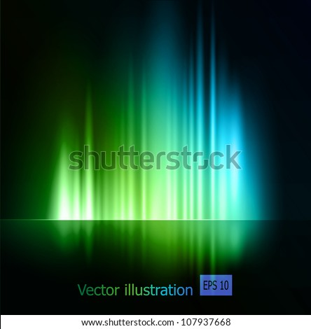 Abstract magic light background - stock vector