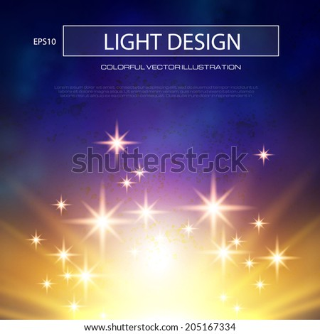 Abstract magic light background. Vector illustration - stock vector