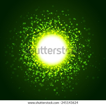 Abstract magic light background. Vector illustration. - stock vector