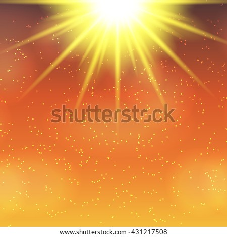 Abstract Magic Light Background Vector Illustration EPS10 - stock vector