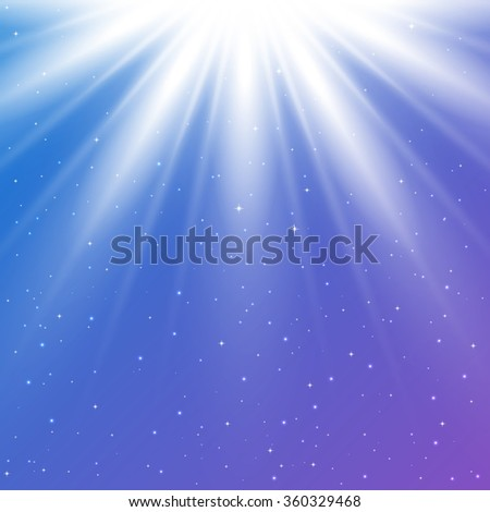 Abstract magic light background with sparkling twinkling stars for your design