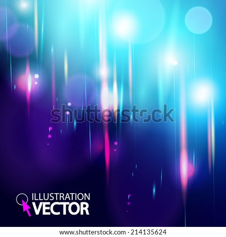 Abstract magic light bokeh background. Vector illustration  - stock vector