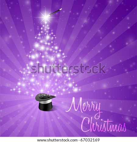 Abstract Magical Christmas Background - stock vector