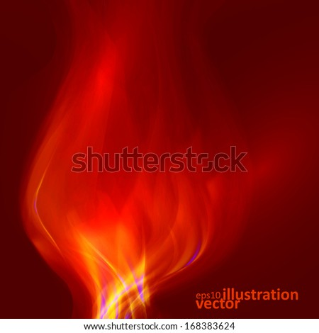 Abstract magical flame illustration. Colorful vector background eps10 - stock vector