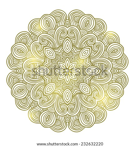 abstract mandala yoga pattern - stock vector