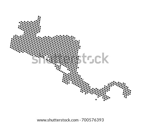 Abstract map central america dots planet stock vector 700576393 abstract map of central america dots planet lines global world map halftone concept gumiabroncs Image collections