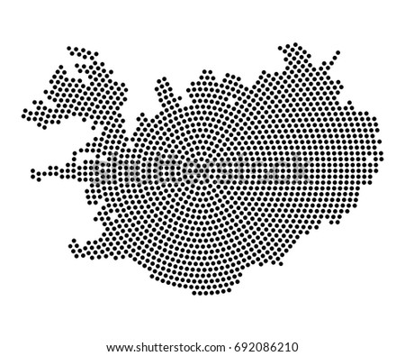 Abstract map iceland radial dot planet stock vector royalty free abstract map of iceland radial dot planet lines global world map halftone concept gumiabroncs Images