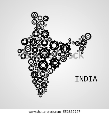 Abstract map of India