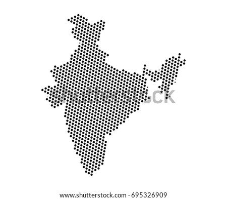 Abstract map india dots planet lines stock vector 695326909 abstract map of india dots planet lines global world map halftone concept vector gumiabroncs Choice Image