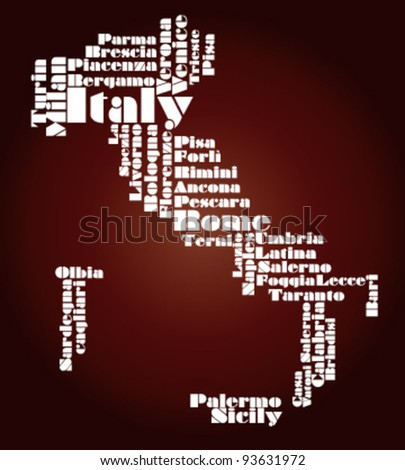 abstract map of Italy