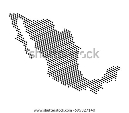 Abstract map mexico dots planet lines vectores en stock 695327140 abstract map of mexico dots planet lines global world map halftone concept vector gumiabroncs Images