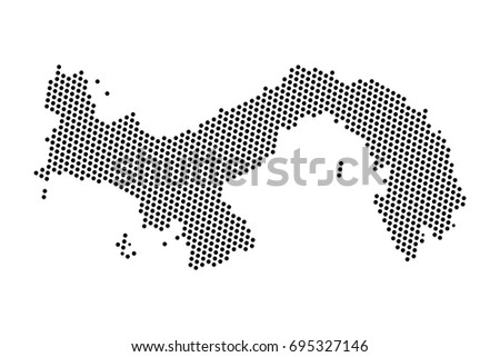 Abstract Map Panama Dots Planet Lines Stock Vector - World map panama
