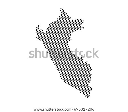 Abstract map peru dots planet lines vectores en stock 695327206 abstract map of peru dots planet lines global world map halftone concept vector gumiabroncs Choice Image
