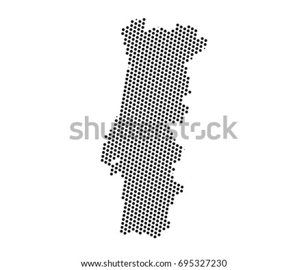 Abstract map portugal dots planet lines stock vector 695327230 abstract map of portugal dots planet lines global world map halftone concept vector gumiabroncs Images