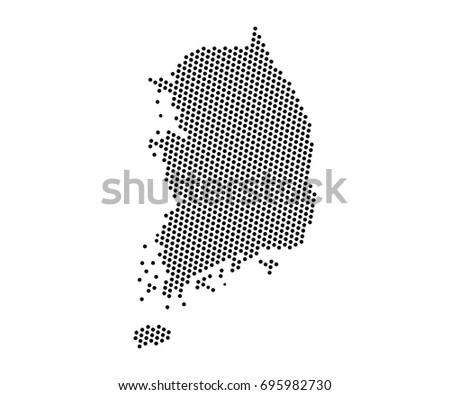 Abstract map south korea dots planet vector de stock695982730 abstract map of south korea dots planet lines global world map halftone concept gumiabroncs Choice Image