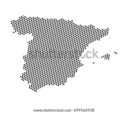 Spain country map made people icon stock vector 579434122 abstract map of spain dots planet lines global world map halftone concept vector gumiabroncs Images