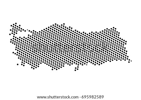 Abstract map turkey dots planet lines stock vector 695982589 abstract map of turkey dots planet lines global world map halftone concept vector gumiabroncs Images