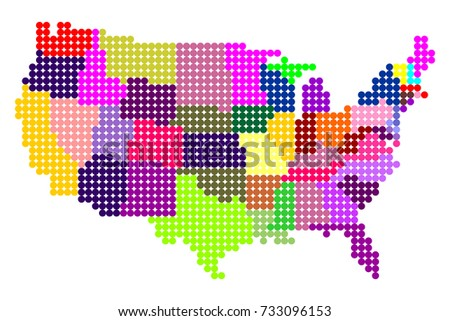 Abstract Map of USA