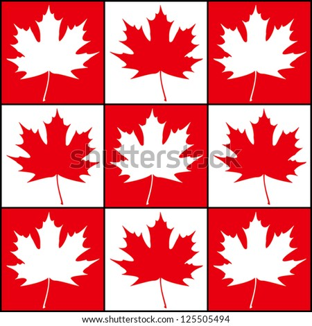 Abstract maple background - leaves in chessboard order. EPS10 vector. - stock vector