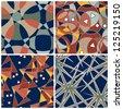 Abstract Matching Intricate Patterns Set - stock photo