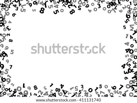 List of Synonyms and Antonyms of the Word: math border Number Border Black And White