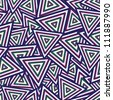Abstract Maya Dark Seamless Pattern. Vector Background - stock vector